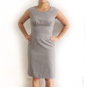Sandra Darren Career Cap Sleeve Gray Sheath Dress